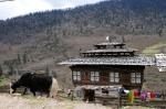 Bauernhaus im Phobjikha-Tal Zentralbhutan