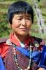 Bhutanesin in traditioneller Kleidung