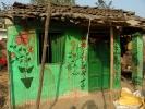Haus bemalt in Mithila Art