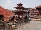 Durbar Square mit Rikscha