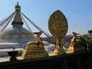 Buddhistischer Stupa Boudanath - Ausblick vom Tamang Kloster