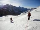 On the way to summit of Ganjala Chuli Peak