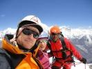 On the summit of Ganjala Chuli Peak