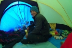Cooking inside the tent
