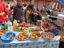 Verschiedene Speisen während eines Festes